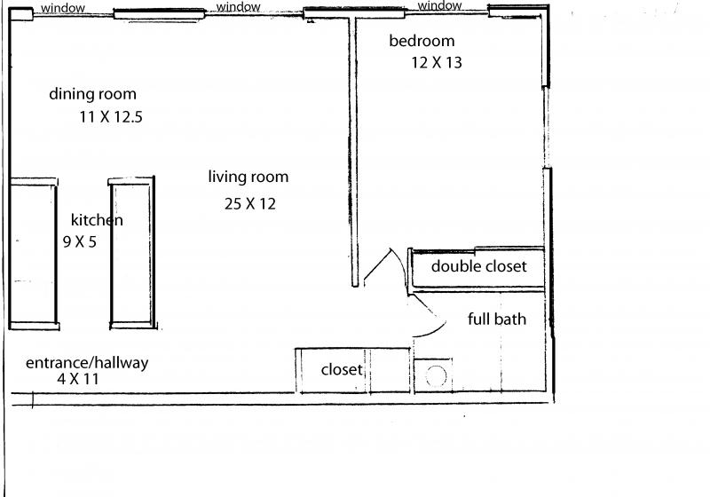 apartment floor plans with dimensions. Floor Plan/Mauer Manor